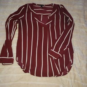 Forever 21 striped work blouse